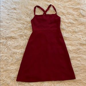 NWT J Crew silk burgundy special occasion dress
